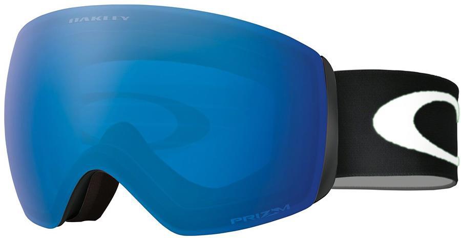 Oakley Flight Deck M Prizm Sapphire Snowboard/Ski Goggles, M Black