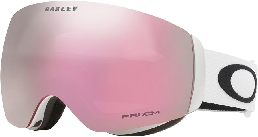 Oakley Flight Deck M Prizm Hi Pink Snowboard/Ski Goggles, M White