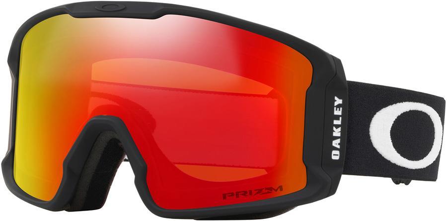 Oakley Line Miner M Prizm Torch Snowboard/Ski Goggles, M Black