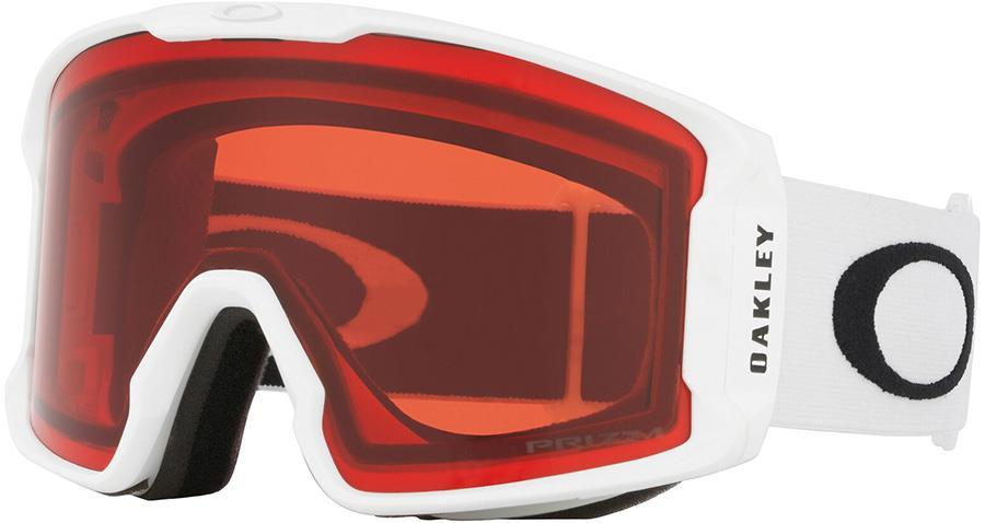 Oakley Line Miner XM Prizm Rose Snowboard/Ski Goggles, M White