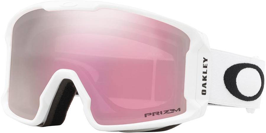 Oakley Line Miner M Prizm Hi Pink Snowboard/Ski Goggles, M White