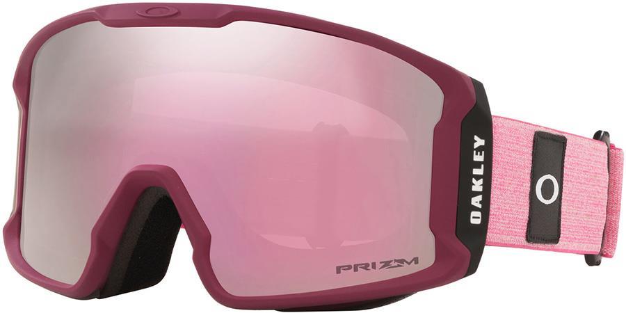 Oakley Line Miner XM Prizm Hi Pink Snowboard/Ski Goggles, M Rubine