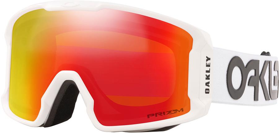 Oakley Line Miner M Prizm Torch Snowboard/Ski Goggles, M FP White