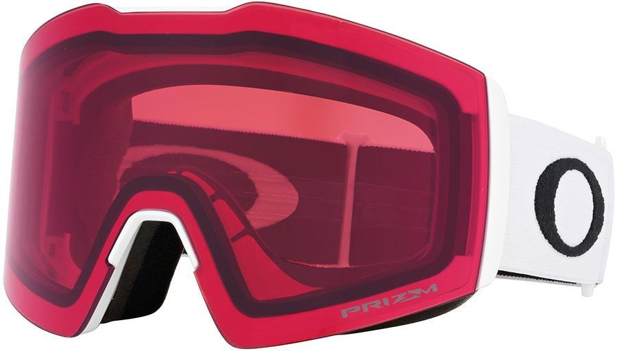 Oakley Fall Line XL Prizm Rose Snowboard/Ski Goggles, L White