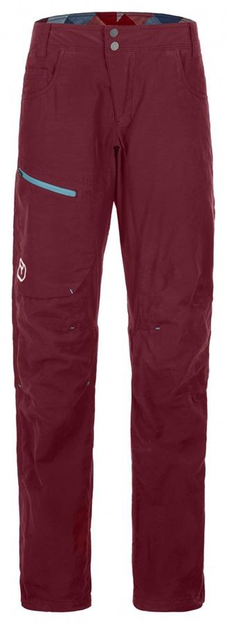Ortovox Corvara Women's Technical Trousers - L, Dark Blood