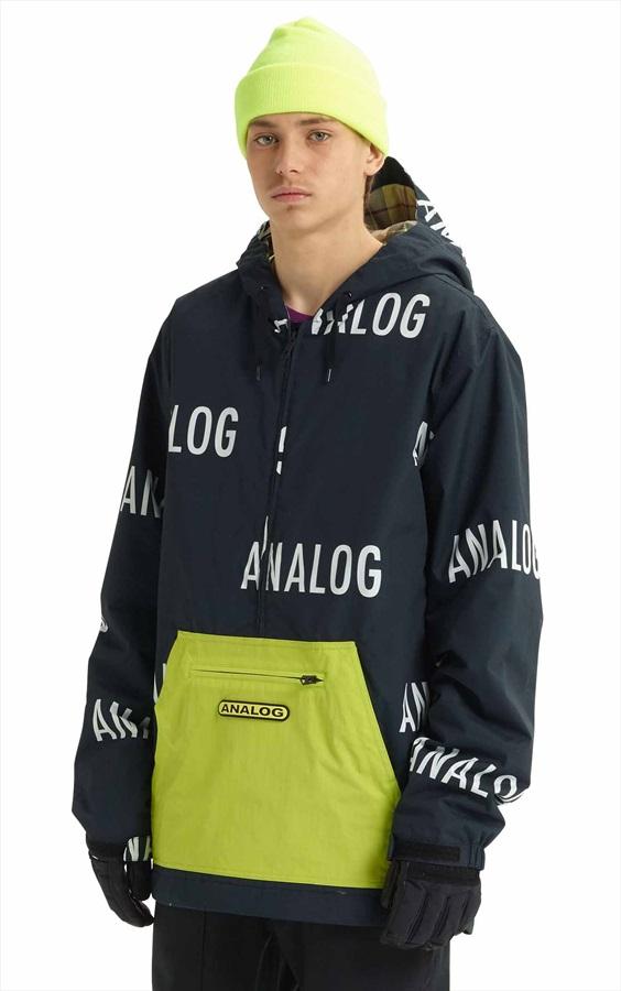 Analog Chainlink Anorak Pull Over Snowboard/Ski Jacket, M Word Up