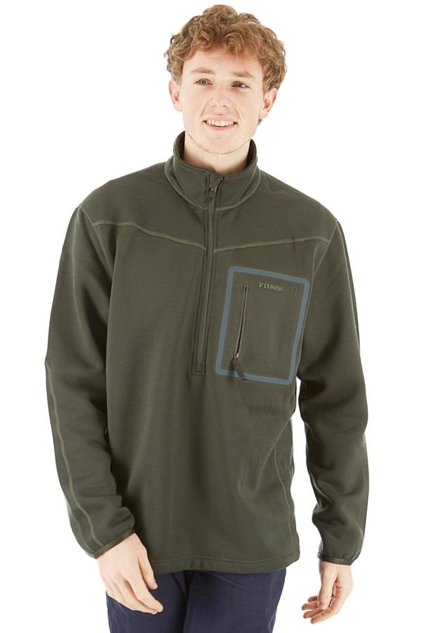 Filson Adult Unisex Shuksan Half-Zip Fleece Jacket, M Tar