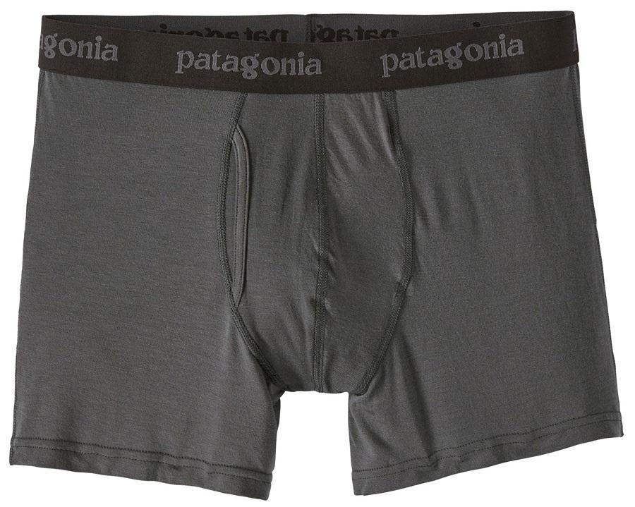 "Patagonia Essential Boxer Briefs 3"" Underwear, L Forge Grey"