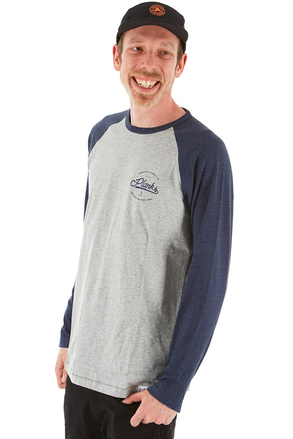 Planks Mountain Supply Co Long Sleeve T-Shirt M Sports Grey