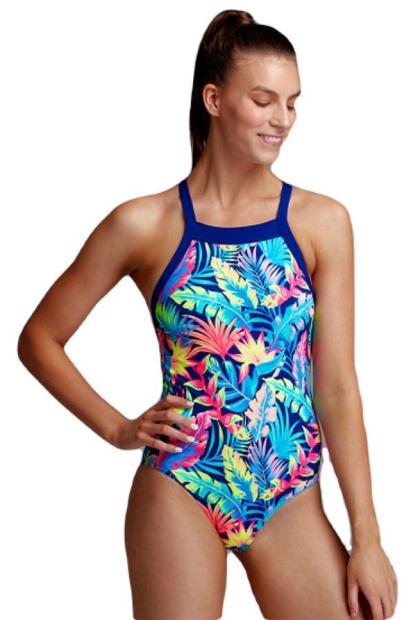 Funkita Sky Hi Women's One-Piece Swimsuit, UK 14 Palm Off