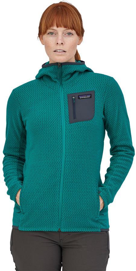 Patagonia R1 Air Full-Zip Fleece Jacket, UK 14 Borealis Green