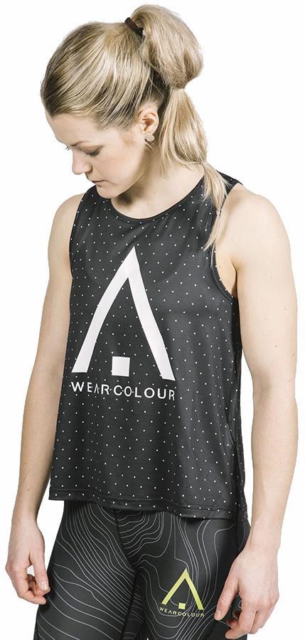 Wearcolour Logo Women's Tank Top Running Vest, M Black Magic