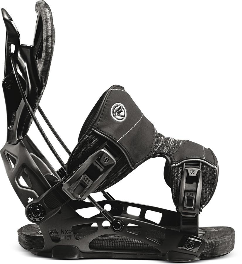 Flow Nx2 Gt Fusion Step In Snowboard Bindings, L Black 2021