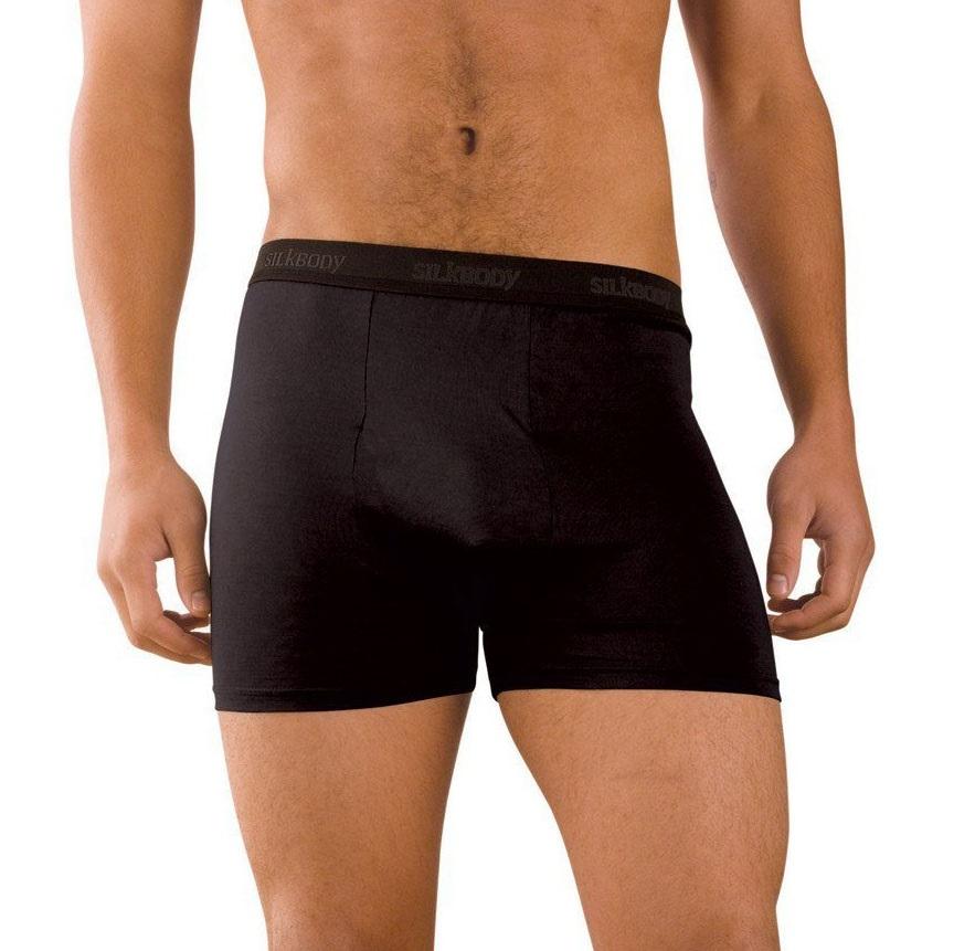 Silkbody Puresilk Boxer Shorts, S Black