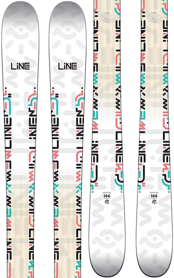 LINE Womens Honey Bee Ski Only Women's Skis, 166cm White 2018