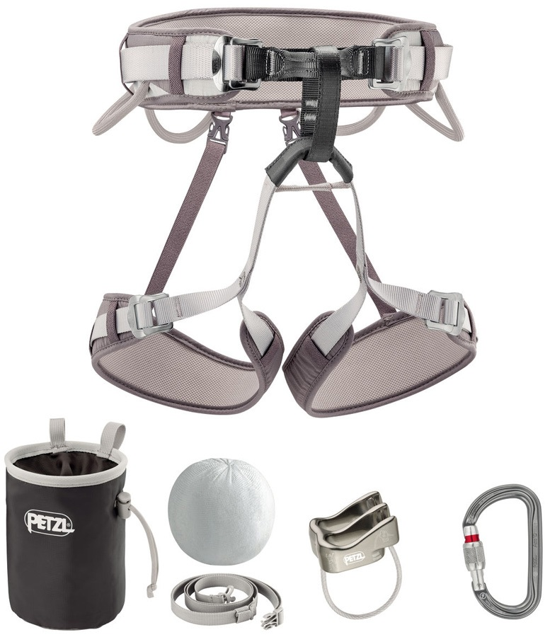 Petzl Corax Kit Climbing Harness Package, Size 2 Gray