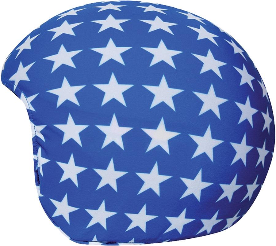 Coolcasc Printed Cool Ski/Snowboard Helmet Cover, Blue Stars
