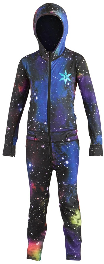Airblaster Youth Ninja Thermal One Piece Suit, Age 8-10 Far Out
