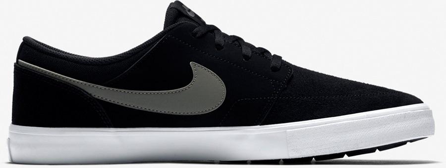 Nike SB Portmore II Solar Skate Shoes UK 9 Black/Dark Grey