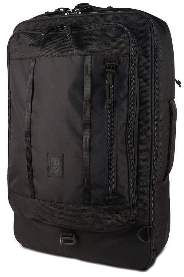 Topo Designs 40L Travel Bag Travel Pack, Ballistic Black