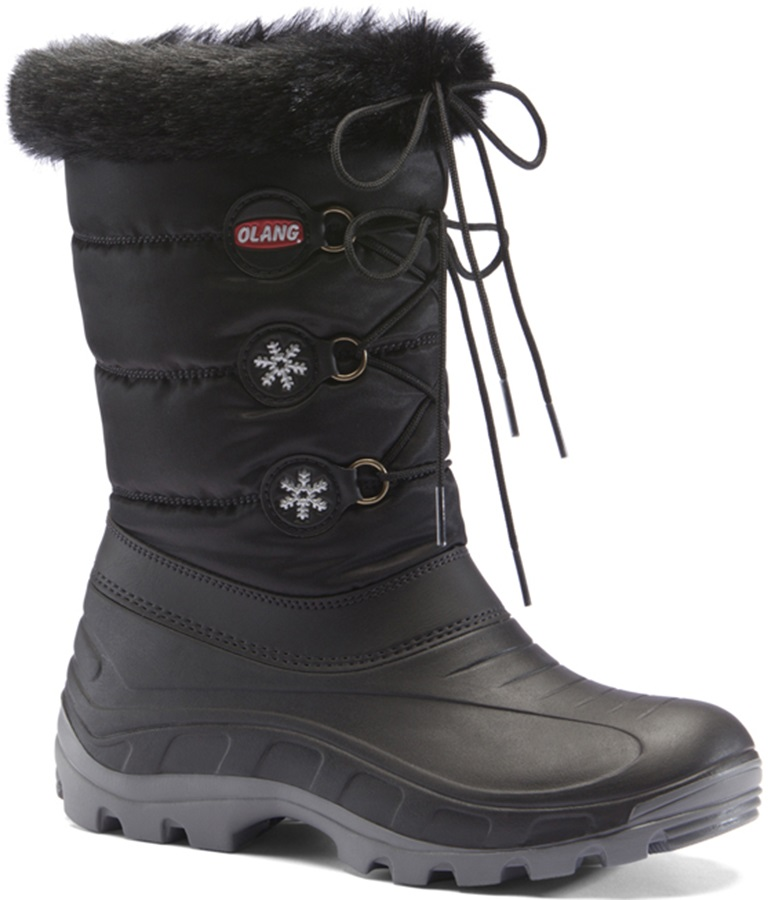 Olang Patty Winter Snow Boots UK Child 12.5/13.5 Black