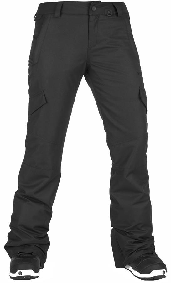 Volcom Bridger Insulated Women's Snowboard/Ski Pants, M Black