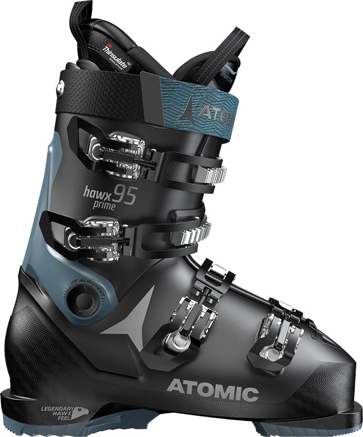 Atomic Hawx Prime 95W Women's Ski Boots, 22/22.5 Black/Denim Blue 2019