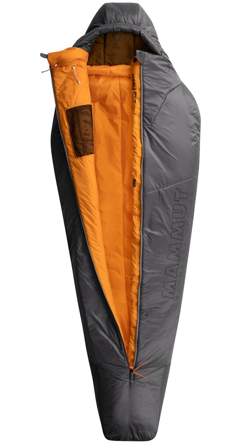 Mammut Perform Fiber Bag -7C 3-Season Sleeping Bag, Large Titanium