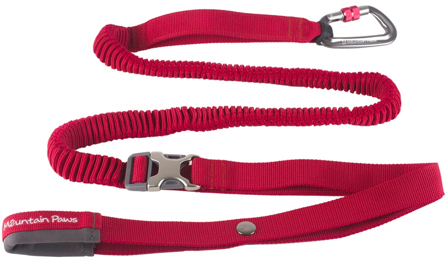 Mountain Paws Shock Absorber Dog Lead Waist-Worn Pet Leash Red