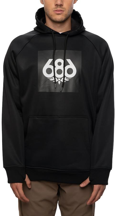 686 Bonded Fleece Men's Pullover Hoodie, M Black