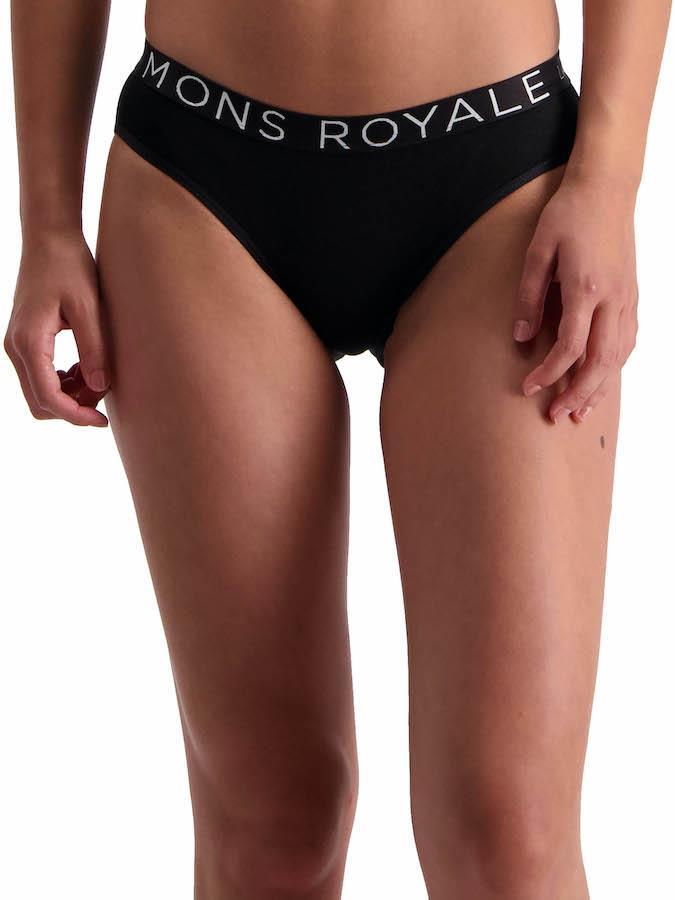 Mons Royale FOLO Women's Merino Wool Briefs, UK 14 Black