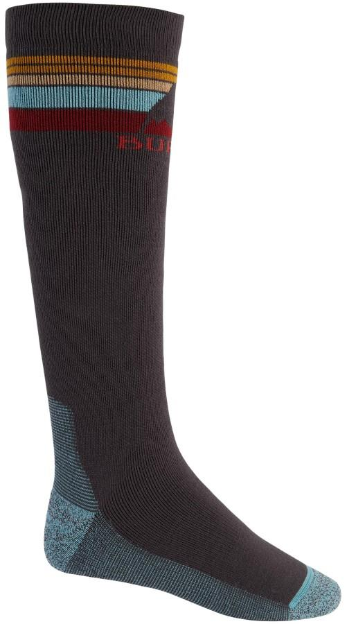 Burton Adult Unisex Emblem Midweight Ski/Snowboard Socks, L Dark Slate