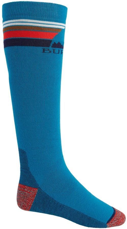 Burton Adult Unisex Emblem Midweight Ski/Snowboard Socks, M Bay Blue
