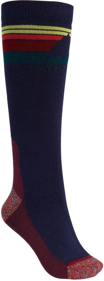 Burton Womens Emblem Midweight Women's Ski/Snowboard Socks, S/M Dress Blue