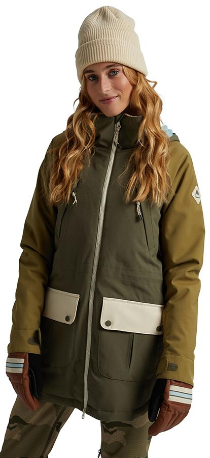 Burton Prowess Women's Snowboard/Ski Jacket, S Keef/Creme Brulee