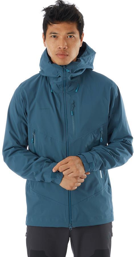 Mammut Kento Hardshell Hooded Waterproof Jacket, S Wing Teal