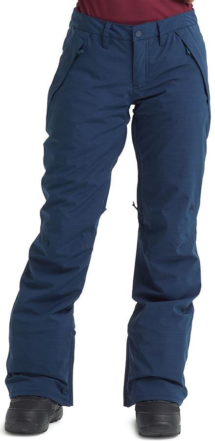 Burton Society Women's Snowboard/Ski Pants XS Dress Blue Heather