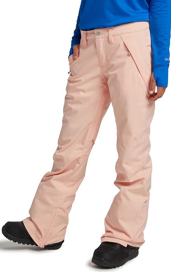 Burton Society Women's Snowboard/Ski Pants S, Peach Melba