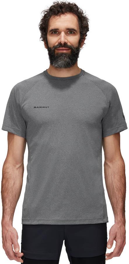 Mammut Aegility Technical Short Sleeve T-Shirt, XL Phantom Melange