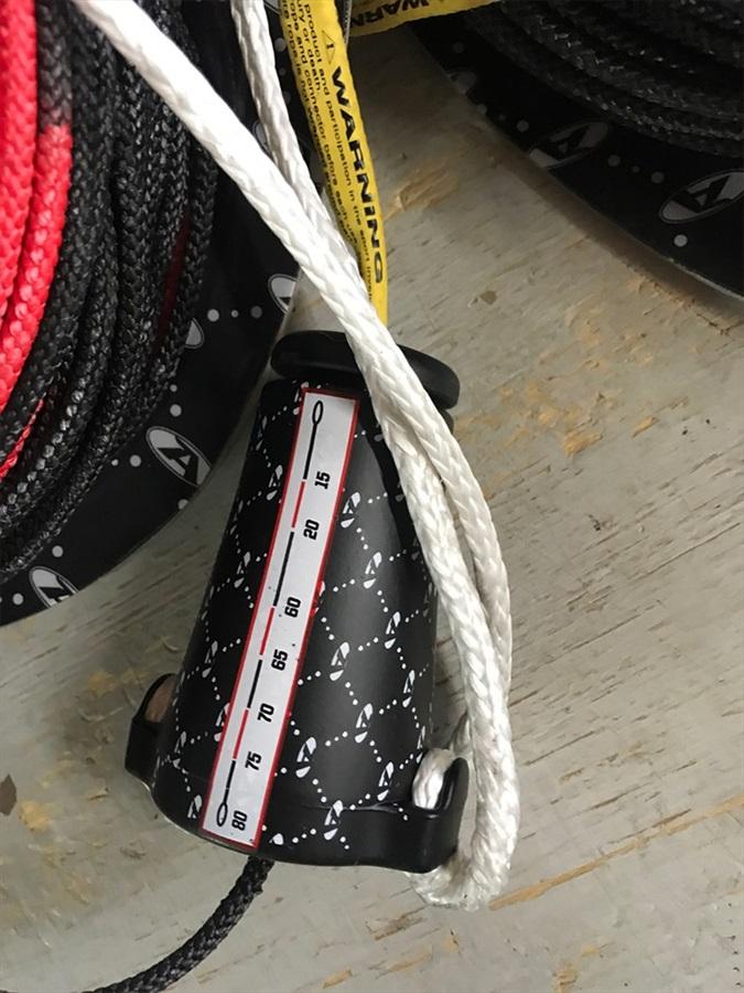 Hyperlite Nfinite Wakeboard Rope Adjuster With Mainline, 15-80' Black