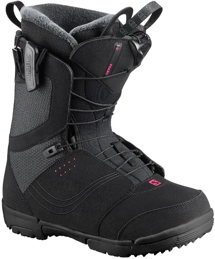 Salomon Pearl Womens Snowboard Boots, UK 5 Black 2020