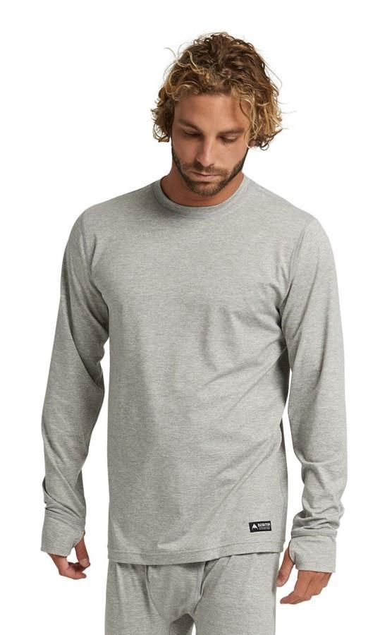 Burton Adult Unisex Midweight Crew Long Sleeve Thermal Top, M Grey Heather