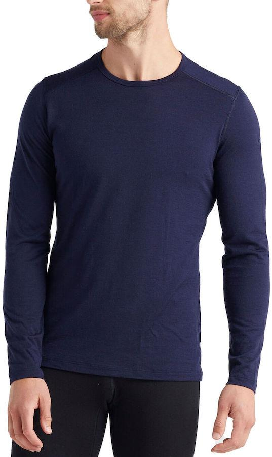 Icebreaker 200 Oasis Long Sleeve Merino Wool Crew Top M Midnight Navy
