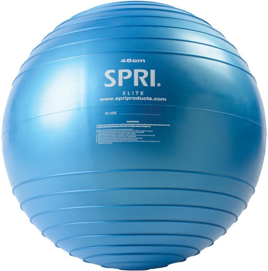 SPRI Adult Unisex Elite Xercise Anti-Burst Exercise Ball, 45cm Blue