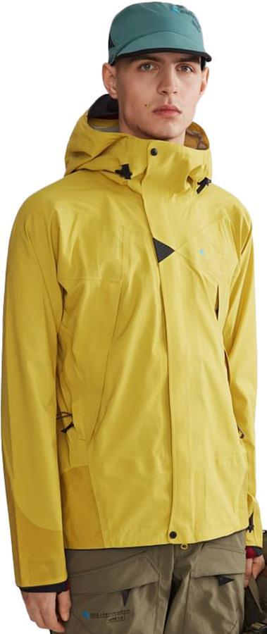Klattermusen Allgron 2.0 Hooded Waterproof Jacket, S Dusty Yellow