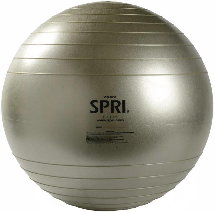 SPRI Adult Unisex Elite Xercise Anti-Burst Exercise Ball, 75cm Silver