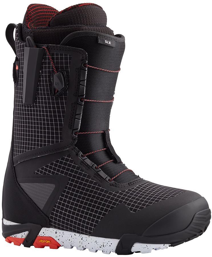 Burton SLX Men's Snowboard Boots, UK 8 Black/Red 2021