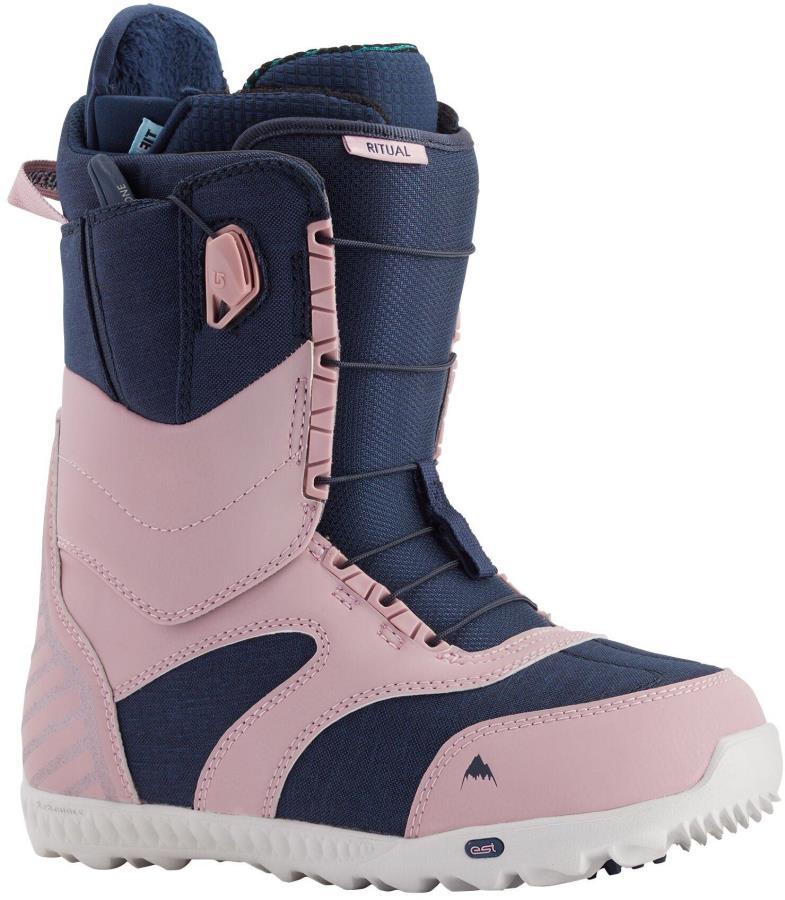 Burton Ritual Women's Snowboard Boots, UK 5 Dusty Rose/Blue 2021
