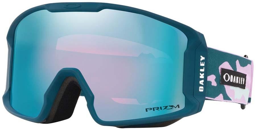 Oakley Line Miner XM Prizm Sapphire Ski/Snowboard Goggles, M Pink Camo