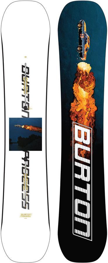 Burton Process Flying V Hybrid Camber Snowboard, 162cm Wide 2022